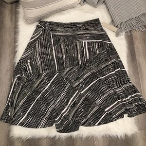 Laura Ashley Black & White Structured Maxi Skirt
